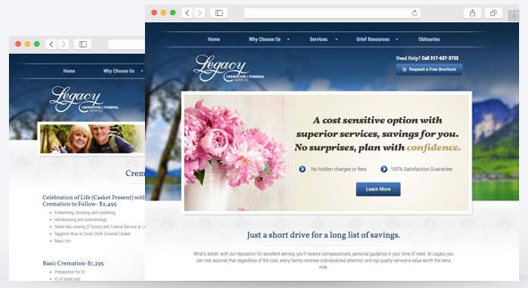 Funeral home website design funeral marketing - Funeral home web design ...